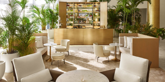 Miami Edition cocktail lounge with customized millwork