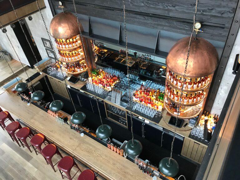 Sagamore Distillery Bar Overhead Picture